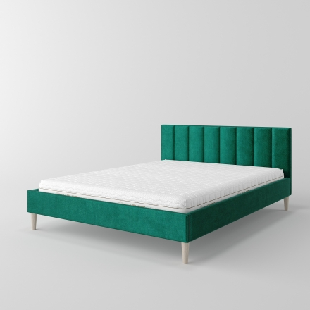 Łóżko tapicerowane z pionowymi panelami - 10134