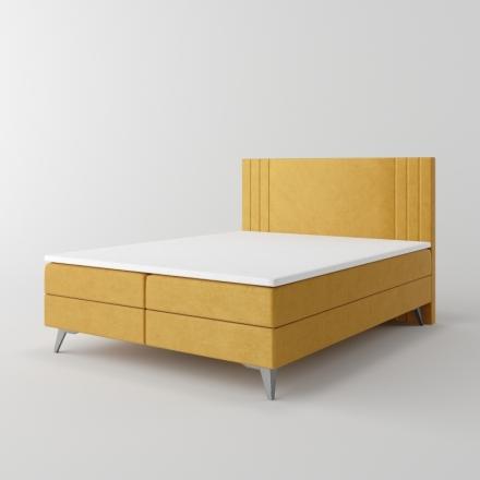 Čalúnená kontinentálna posteľ - 10459