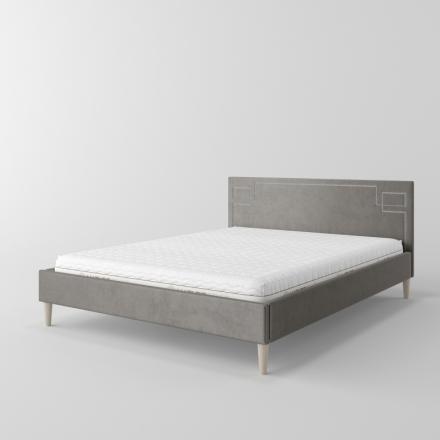 łóżko tapicerowane z ćwiekami - 10802