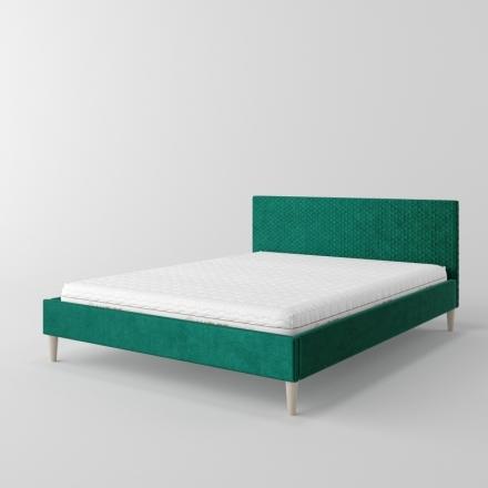 čalúnená posteľ s prešívaním v diamantoch - 11115