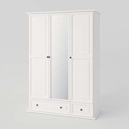 Biela trojdverová skriňa - 2149